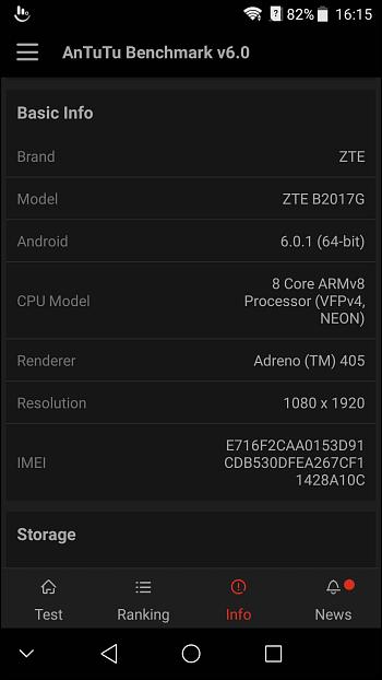 ZTE Axon 7 Mini 4G Smartphone Fingerprint Sensor